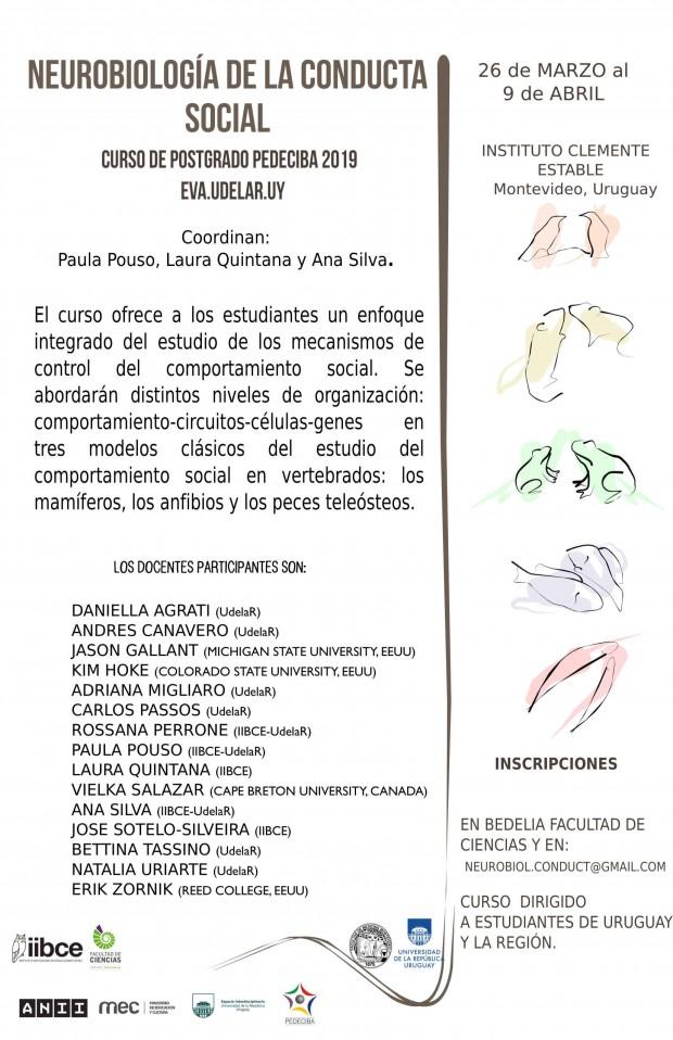 Afiche curso Neurobiol Cond Soc